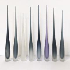 Vivarini FLUTE by Vivarini Series of 8 Murano glass vases - 1546503