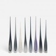 Vivarini FLUTE by Vivarini Series of 8 Murano glass vases - 1547233