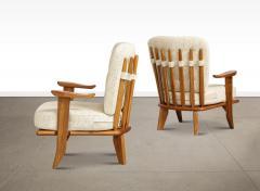 Votre Maison Pair of Lounge Chairs by Guillerme Chambron for Votre Maison - 1833229