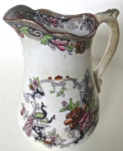 W J Butterfield Mid Size Ironstone Pitcher by W J Butterfield England Circa 1855 - 997902