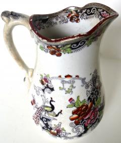 W J Butterfield Mid Size Ironstone Pitcher by W J Butterfield England Circa 1855 - 997903