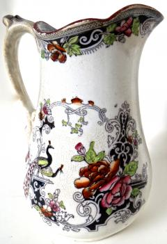 W J Butterfield Mid Size Ironstone Pitcher by W J Butterfield England Circa 1855 - 997906