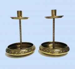 WMF W rttembergische Metallwarenfabrik W M F Pair WMF Brass Arts Crafts Candlesticks C 1900 - 1968457