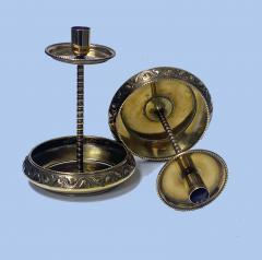 WMF W rttembergische Metallwarenfabrik W M F Pair WMF Brass Arts Crafts Candlesticks C 1900 - 1968459
