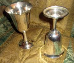 Wallace Silversmiths Inc Mid Century Modern Sterling Silver Wallace Silver Water Goblet Set - 996267
