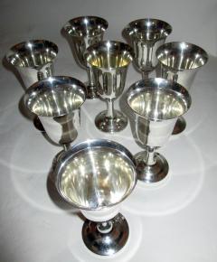 Wallace Silversmiths Inc Mid Century Modern Sterling Silver Wallace Silver Water Goblet Set - 996275