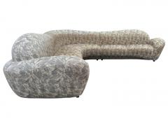 Weiman Mid Century Modern Curved and Sculptural Sectional Serpentine Sofa by Weiman - 1738687