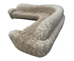 Weiman Mid Century Modern Curved and Sculptural Sectional Serpentine Sofa by Weiman - 1738699