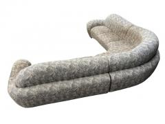 Weiman Mid Century Modern Curved and Sculptural Sectional Serpentine Sofa by Weiman - 1738700