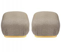 Weiman Pair of Hollywood Regency Poufs or Ottomans after Karl Springer by Weiman - 2058998