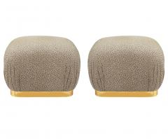 Weiman Pair of Hollywood Regency Poufs or Ottomans after Karl Springer by Weiman - 2058999