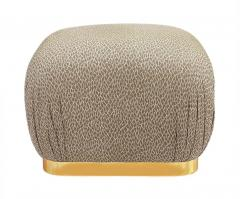 Weiman Pair of Hollywood Regency Poufs or Ottomans after Karl Springer by Weiman - 2059002