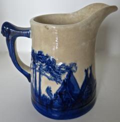 Weir Pottery Company Sleepy Eye Complete Set of 5 Stoneware Pitchers American Circa 1905 - 892735
