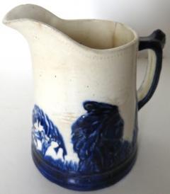 Weir Pottery Company Sleepy Eye Complete Set of 5 Stoneware Pitchers American Circa 1905 - 892736