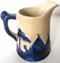 Weir Pottery Company Sleepy Eye Complete Set of 5 Stoneware Pitchers American Circa 1905 - 892739