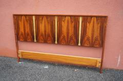 Westnofa of Norway Bookmatched Rosewood and Walnut Queen Headboard by Westnofa - 1181152