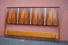 Westnofa of Norway Bookmatched Rosewood and Walnut Queen Headboard by Westnofa - 1181153