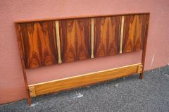 Westnofa of Norway Bookmatched Rosewood and Walnut Queen Headboard by Westnofa - 1181154