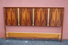 Westnofa of Norway Bookmatched Rosewood and Walnut Queen Headboard by Westnofa - 1181157