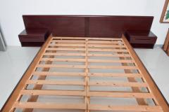 Westnofa of Norway Sleek Danish Modern Rosewood Platform Queen Bed with Floating Nightstands - 1689324