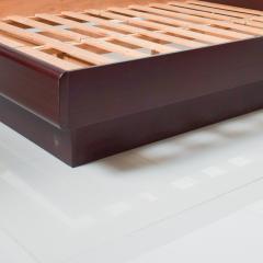 Westnofa of Norway Sleek Danish Modern Rosewood Platform Queen Bed with Floating Nightstands - 1689325
