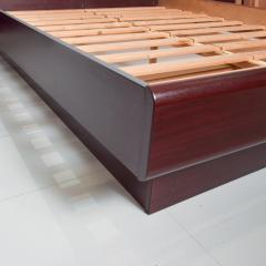 Westnofa of Norway Sleek Danish Modern Rosewood Platform Queen Bed with Floating Nightstands - 1689328