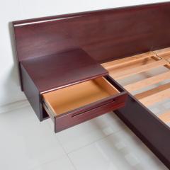 Westnofa of Norway Sleek Danish Modern Rosewood Platform Queen Bed with Floating Nightstands - 1689330