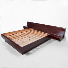 Westnofa of Norway Sleek Danish Modern Rosewood Platform Queen Bed with Floating Nightstands - 1689331
