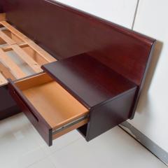 Westnofa of Norway Sleek Danish Modern Rosewood Platform Queen Bed with Floating Nightstands - 1689332
