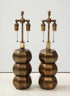 Westwood Industries Rare Pair of Bronzed Sphere lamps by Westwood Industries - 1924113