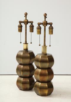 Westwood Industries Rare Pair of Bronzed Sphere lamps by Westwood Industries - 1924114