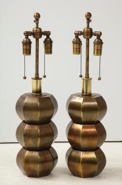 Westwood Industries Rare Pair of Bronzed Sphere lamps by Westwood Industries - 1924115