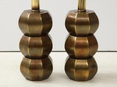 Westwood Industries Rare Pair of Bronzed Sphere lamps by Westwood Industries - 1924116