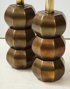 Westwood Industries Rare Pair of Bronzed Sphere lamps by Westwood Industries - 1924117