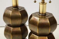 Westwood Industries Rare Pair of Bronzed Sphere lamps by Westwood Industries - 1924119
