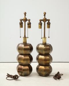 Westwood Industries Rare Pair of Bronzed Sphere lamps by Westwood Industries - 1924120