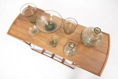 Whitefriars Set of 7 Ribbon Trailed Glass Vases and Bowls by Barnaby Powell UK 1930s - 1622765