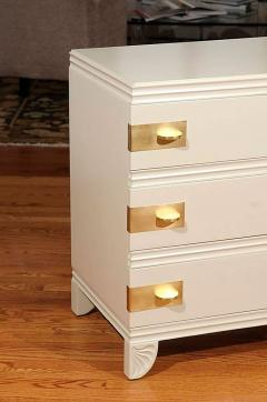 Widdicomb Furniture Co Gorgeous Restored Three Drawer Chest By Widdicomb In  Cream Lacquer   325348
