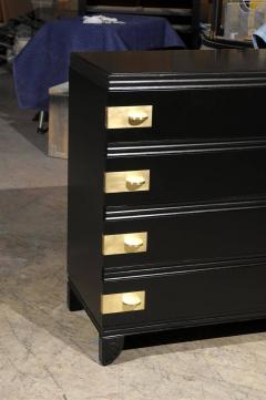 Widdicomb Furniture Co Restored Widdicomb Modern Commode In Black Lacquer    126232