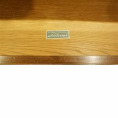 Widdicomb Furniture Co T H Robsjohn Gibbings Pair of Bedside Table Chests in Walnut 1950s signed  - 1048315