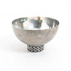 Wiener Silber Schmiede Handsgeschlagen Viennese Austrian Sterling Silver crafted footed bowl from mid 20th century - 1685449