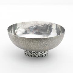 Wiener Silber Schmiede Handsgeschlagen Viennese Austrian Sterling Silver crafted footed bowl from mid 20th century - 1685454