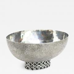 Wiener Silber Schmiede Handsgeschlagen Viennese Austrian Sterling Silver crafted footed bowl from mid 20th century - 1686505