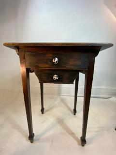 Wiener Werkst tte AUSTRIAN OAK TABLE WITH ENAMELED DRAWER PULLS BY JOSEF HOFFMAN - 1218331