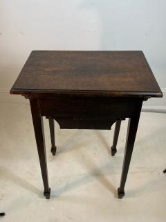 Wiener Werkst tte AUSTRIAN OAK TABLE WITH ENAMELED DRAWER PULLS BY JOSEF HOFFMAN - 1218334