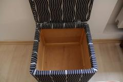 Wiener Werkst tte Art Deco Stool with Fold Up Seat France circa 1930 - 1331728