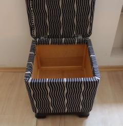 Wiener Werkst tte Art Deco Stool with Fold Up Seat France circa 1930 - 1331732