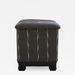 Wiener Werkst tte Art Deco Stool with Fold Up Seat France circa 1930 - 1333588