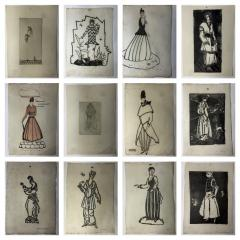 Wiener Werkst tte Mode Wein 1914 15 12 Wiener Werkst tte Fashion Wood Cuts - 1571349