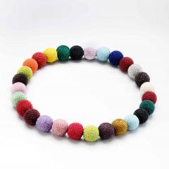 Wiener Werkst tte Wiener Werkstatte Round Beaded Necklace in Colored Beads - 286985